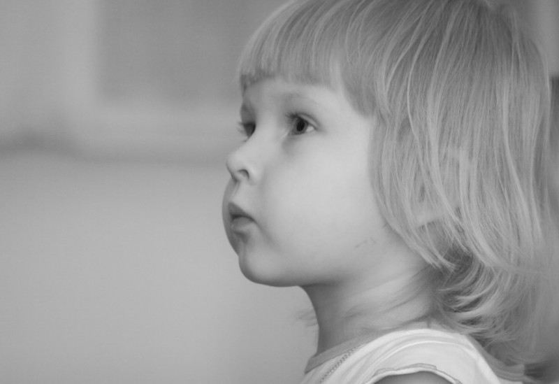 The little girl - an attentive sight