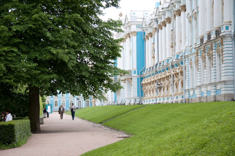 Ekaterina's palace in Pushkin
